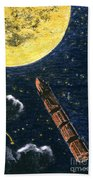 Verne: From Earth To Moon Beach Towel