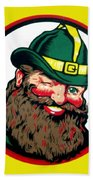 Vernors Ginger Ale - The Vernors Gnome Beach Towel