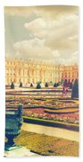 Versailles Gardens And Palace In Shabby Chic Style Beach Towel