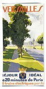 Versailles Travel Poster Beach Towel