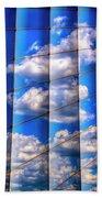 Vertical Sky Beach Towel