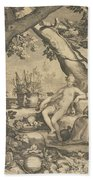 Vertumnus And Pomona Beach Towel