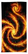 Very Big Red Gold Spiral Galaxy Beach Towel