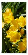 Very Sunny Yellow Flowers Beach Towel