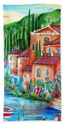 Via Positano By The Lake Beach Towel