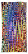 Vibrant Christmastree Forest Beach Towel