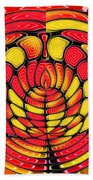 Vibrant Reds Beach Towel