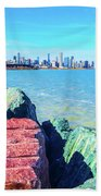Vibrant Summer Vibes Beach Towel