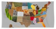 Vibrant Textures Of The United States Beach Towel