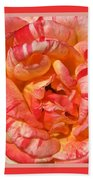 Vibrant Two Toned Rose With Design Beach Towel