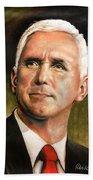 Vice President Mike Pence Portrait Beach Sheet