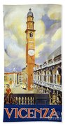 Vicenza Italy Travel Poster Beach Towel