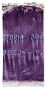 Victoria Eternal Sleep Beach Towel