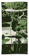 Victorian Garden Poster Beach Towel