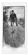 Victorian Gentleman On A Penny-farthing Beach Towel