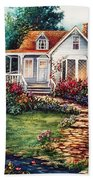 Victorian House With Gardens Beach Towel