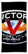 Victory Motorcycles Emblem Beach Towel
