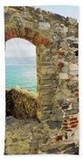 View From Doria Castle In Portovenere Italy Beach Towel