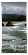 View From Ecola Beach Towel