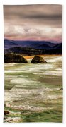 View From Ecola II Beach Towel