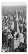 View From Empire State Bldg. Beach Towel
