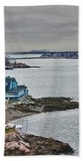 View From Marblehead Lighthouse Beach Towel