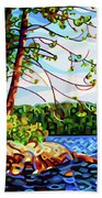 View From Mazengah - Crop Beach Towel