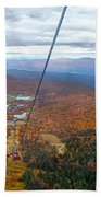 View From Mount Mansfield In Autumn Beach Sheet