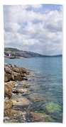 View From North Wall - Lyme Regis Beach Towel