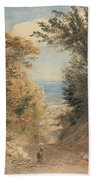 View From Rook's Hill, Kent Beach Towel