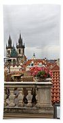 View From The Top In Prague Beach Towel