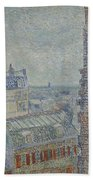View From Theo S Apartment Paris, March - April 1887 Vincent Van Gogh 1853  1890 Beach Towel