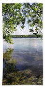 View From Under At Lake Carmi Beach Towel