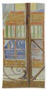 View Of A Butcher S Shop Arles, February 1888 Vincent Van Gogh 1853  1890 Beach Towel
