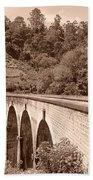 View Of Ancient Bridge Beach Towel