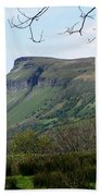 View Of Benbulben From Glencar Lake Ireland Beach Towel
