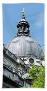 View Of Brompton Oratory Dome Kensington London England Beach Towel
