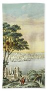 View Of Constantinople From The Marmara Sea Beach Towel