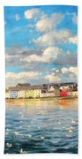 View Of Galway Harbour Beach Towel