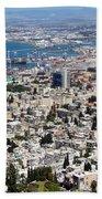 View Of Haifa Beach Towel