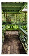 View Of Lily Pads From Gazebo By Kaye Menner Beach Towel