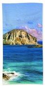 View Of Makapuu And Rabbit Island Beach Towel