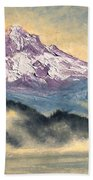 View Of Mt Hood Beach Towel