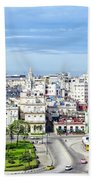 View Of Old Town Havana Beach Towel