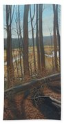View Of Parkers Creek Beach Towel