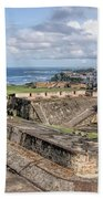 View Of San Juan From The Top Of Fort San Cristoba Beach Towel