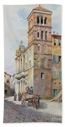 View Of Santa Maria In Monticelli, Rome  Beach Towel