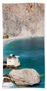 View Of The Glikanera Beach, Hora Beach Towel