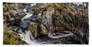 View Of The Great Falls Beach Towel