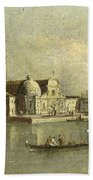 View Of The Isola Di San Michele In Venice Beach Towel